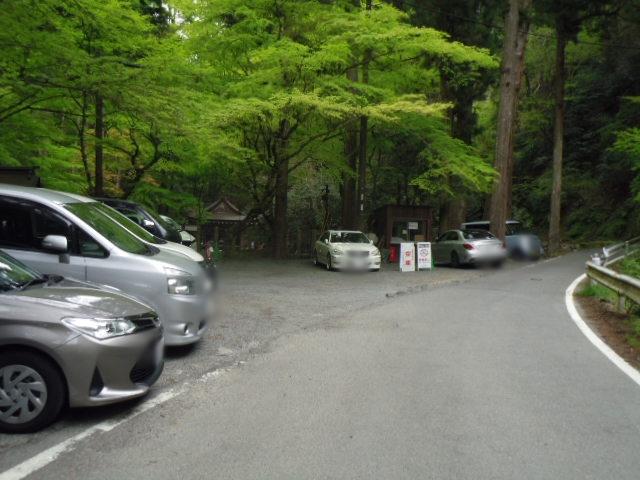 貴船神社 奥宮前駐車場
