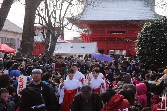 吉岡神社の島田飴まつり