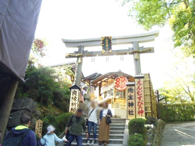 地主神社は清水の舞台の裏