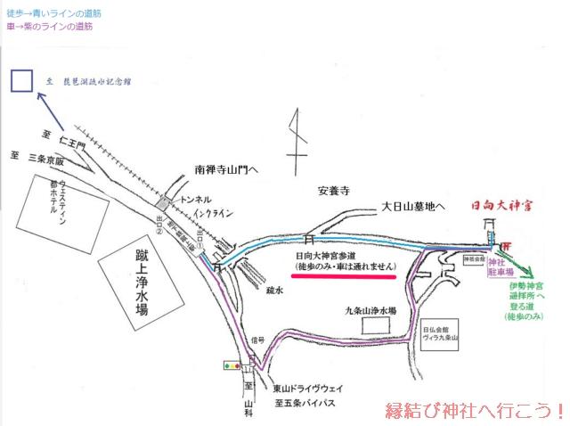 日向大神宮への車でのアクセス